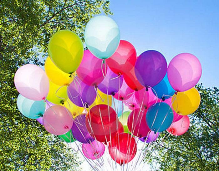 Надувные шары. Цвета настроения.